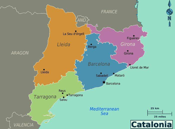 Провинции Каталонии