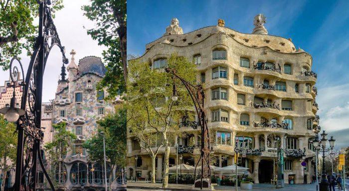 Дом Бальо (слева) и Дом Мила