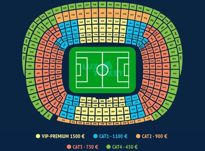 Стоимость билета на матч барселона реал мадрид