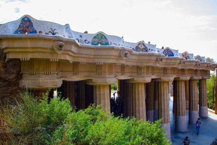 Мозаика Антонио Гауди: парк Гуэля