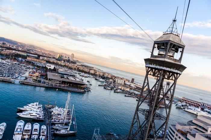 Порт Барселоны при взгляде с высоты
