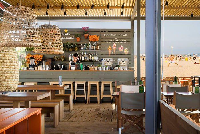 Какое море в Барселоне: Кафе «Чирингито»