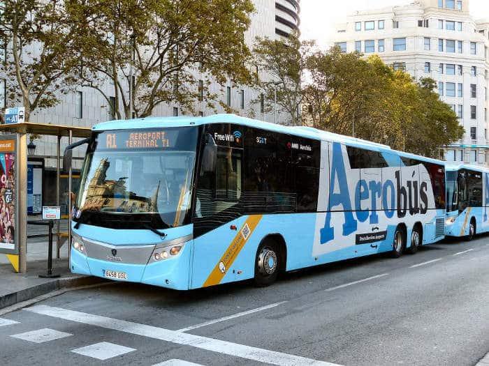 Aerobus – автобус из аэропорта Барселоны
