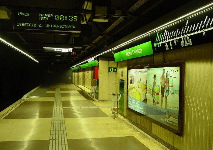 Как добраться до стадиона: станция метро Maria Cristina
