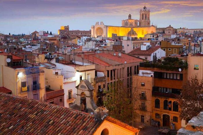 Местоположение Кафедрального собора на территории Таррагоны
