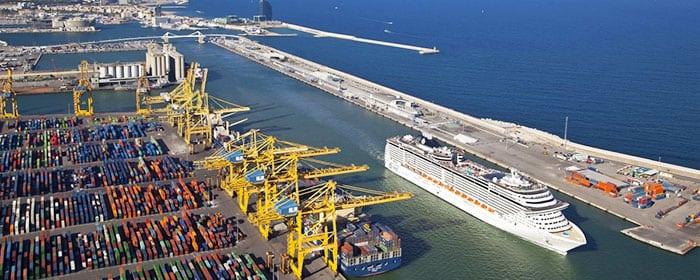 Морской порт Барселоны: деление