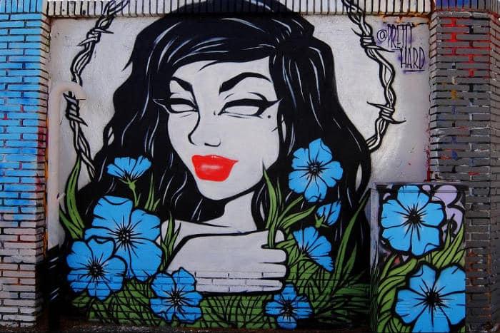 Район Poblenou: уличное граффити
