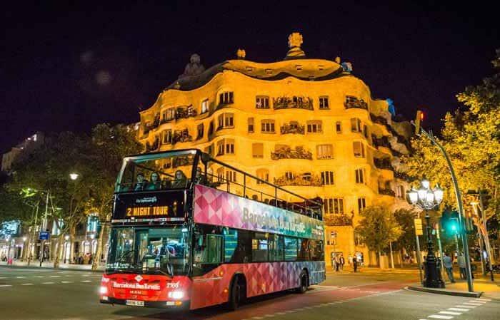 Туристический автобус Барселоны: маршрут синего цвета