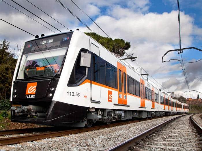 Поезд в пригород Барселоны
