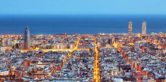 Барселона на карте Испании