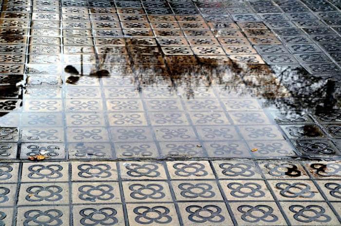 Дождливая погода в Барселоне