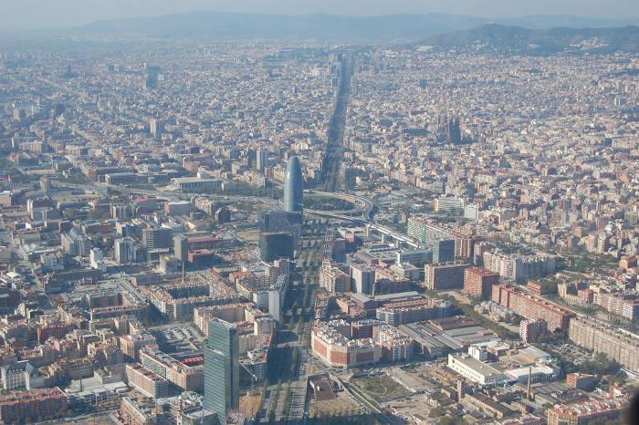Барселона: вид сверху на Эшампле
