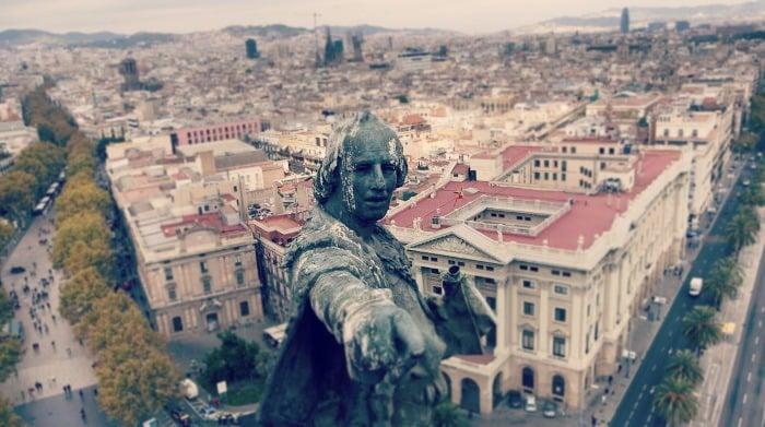 Барселона: вид сверху