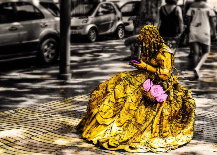 Искусство Барселоны: живые статуи