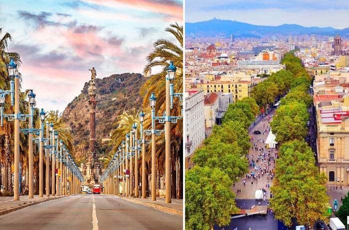 Главная улица Барселоны: адрес