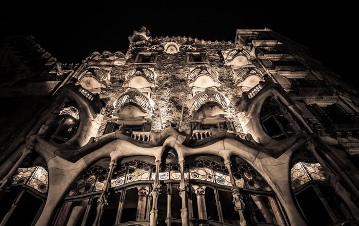 Ночная подсветка Дома Бальо