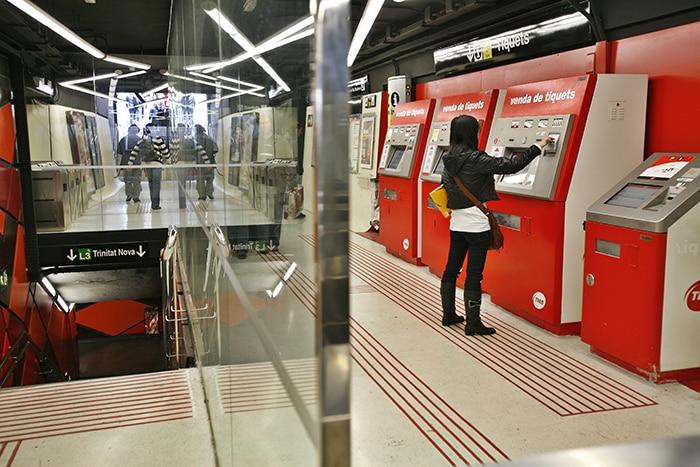 Автоматы с билетами в метро